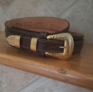 Justin Boots Lizard Belt size 38